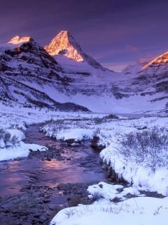 Зимняя прохлада гор очень красиво смотрится на смартфоне Nokia N80